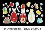 saint nicholas  devil and angel.... | Shutterstock .eps vector #1831192975