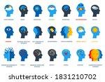set of psychological problems... | Shutterstock .eps vector #1831210702