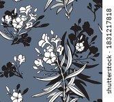 Oleander Flower Seamless...