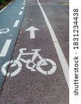 Bicycle Symbol. Bike Path In...