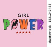 gril power abstract colorful... | Shutterstock .eps vector #1831241485