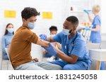 Covid 19 Vaccination. Asian...
