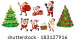 illustration of santa with the... | Shutterstock . vector #183127916