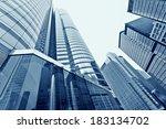 modern glass silhouettes of... | Shutterstock . vector #183134702