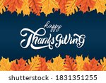 happy thanksgiving day... | Shutterstock .eps vector #1831351255