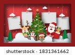 christmas postcard banner... | Shutterstock .eps vector #1831361662