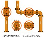 isolated valve with hand wheel... | Shutterstock .eps vector #1831369702