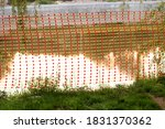 Orange Construction Fence Mesh. ...