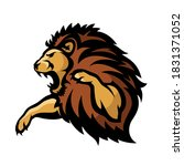 isolated lion symbol  vector... | Shutterstock .eps vector #1831371052