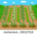 spring beautiful landscape  | Shutterstock .eps vector #183137318