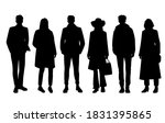 set of silhouettes of men and... | Shutterstock .eps vector #1831395865
