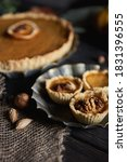 Pumpkin Pies Decorated With...