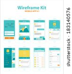 wireframe kit mobile app v.1