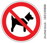 no dogs sign | Shutterstock .eps vector #183140888