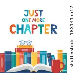 just one more chapter.... | Shutterstock .eps vector #1831415512