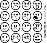 smilies and faces | Shutterstock .eps vector #18314296