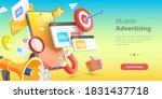 mobile advertising  social... | Shutterstock . vector #1831437718