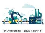 vector illustration  production ... | Shutterstock .eps vector #1831455445