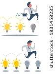 brainstorming businessman... | Shutterstock .eps vector #1831458235