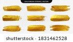 golden paint brush stroke. set... | Shutterstock .eps vector #1831462528