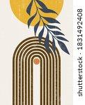 burnt orange sun print boho... | Shutterstock .eps vector #1831492408