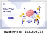 landing page template with...   Shutterstock .eps vector #1831506265