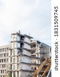 Demolition Building Crane At...
