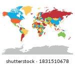 world map. high detailed blank... | Shutterstock .eps vector #1831510678