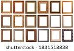 frames baguettes gold silver...   Shutterstock . vector #1831518838
