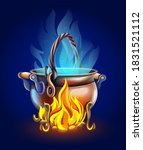 fairy tale pot with magic of...   Shutterstock . vector #1831521112