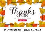 thanks giving day vector sale... | Shutterstock .eps vector #1831567585