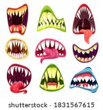 monster mouths cartoon set of... | Shutterstock .eps vector #1831567615