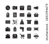 black friday icon set. contains ...