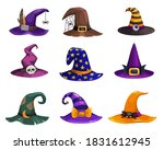 Witch Hats Vector Icons ...