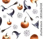 Halloween Seamless Pattern ...