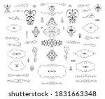 set of vintage elements is on... | Shutterstock .eps vector #1831663348
