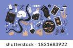 hand drawn halloween season... | Shutterstock .eps vector #1831683922