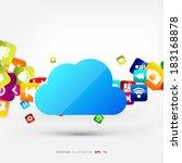 application button.social media....   Shutterstock .eps vector #183168878