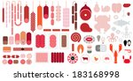 meat   seafood icon set   Shutterstock .eps vector #183168998