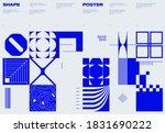 swiss poster design template... | Shutterstock .eps vector #1831690222