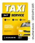 vector layout with taxi car....   Shutterstock .eps vector #1831691185