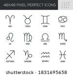 set of zodiac signs vector line ... | Shutterstock .eps vector #1831695658