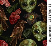alchemy seamless pattern.... | Shutterstock .eps vector #1831706458