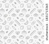 baking bread seamless pattern... | Shutterstock .eps vector #1831715365