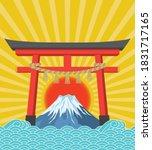 image illustration of mt. fuji... | Shutterstock .eps vector #1831717165