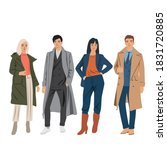 set of young men and women... | Shutterstock .eps vector #1831720885