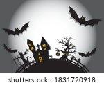 castle dracula at halloween... | Shutterstock .eps vector #1831720918