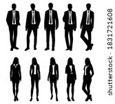 vector silhouettes of  men and... | Shutterstock .eps vector #1831721608