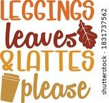 Leggings  Leaves And Lattes...