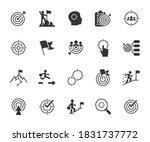 vector set of goal flat icons.... | Shutterstock .eps vector #1831737772